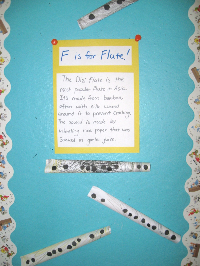 Flutes in the music center