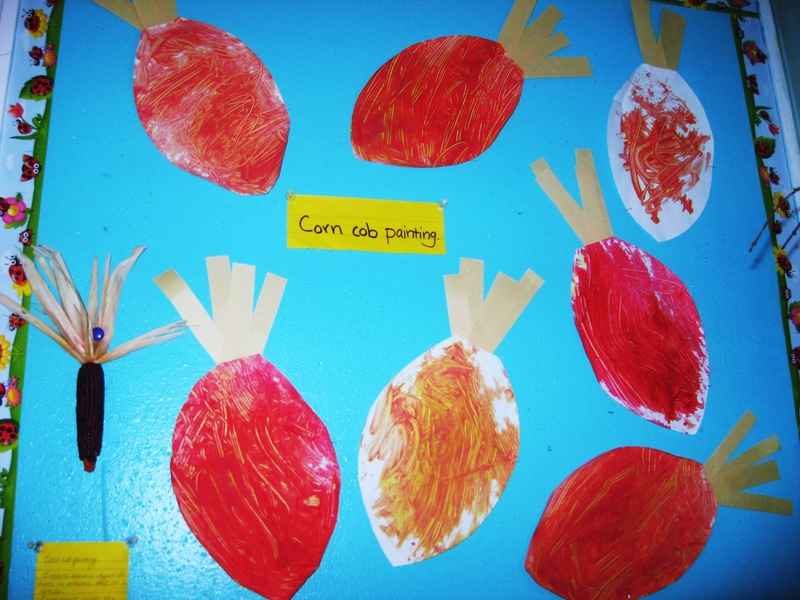 Corn cob painting